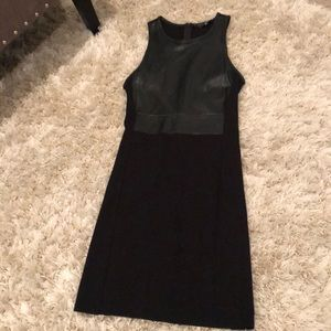 Wilfred Free black leather dress